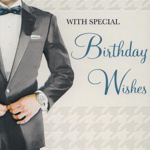Stylish Mens Birthday Card BC05