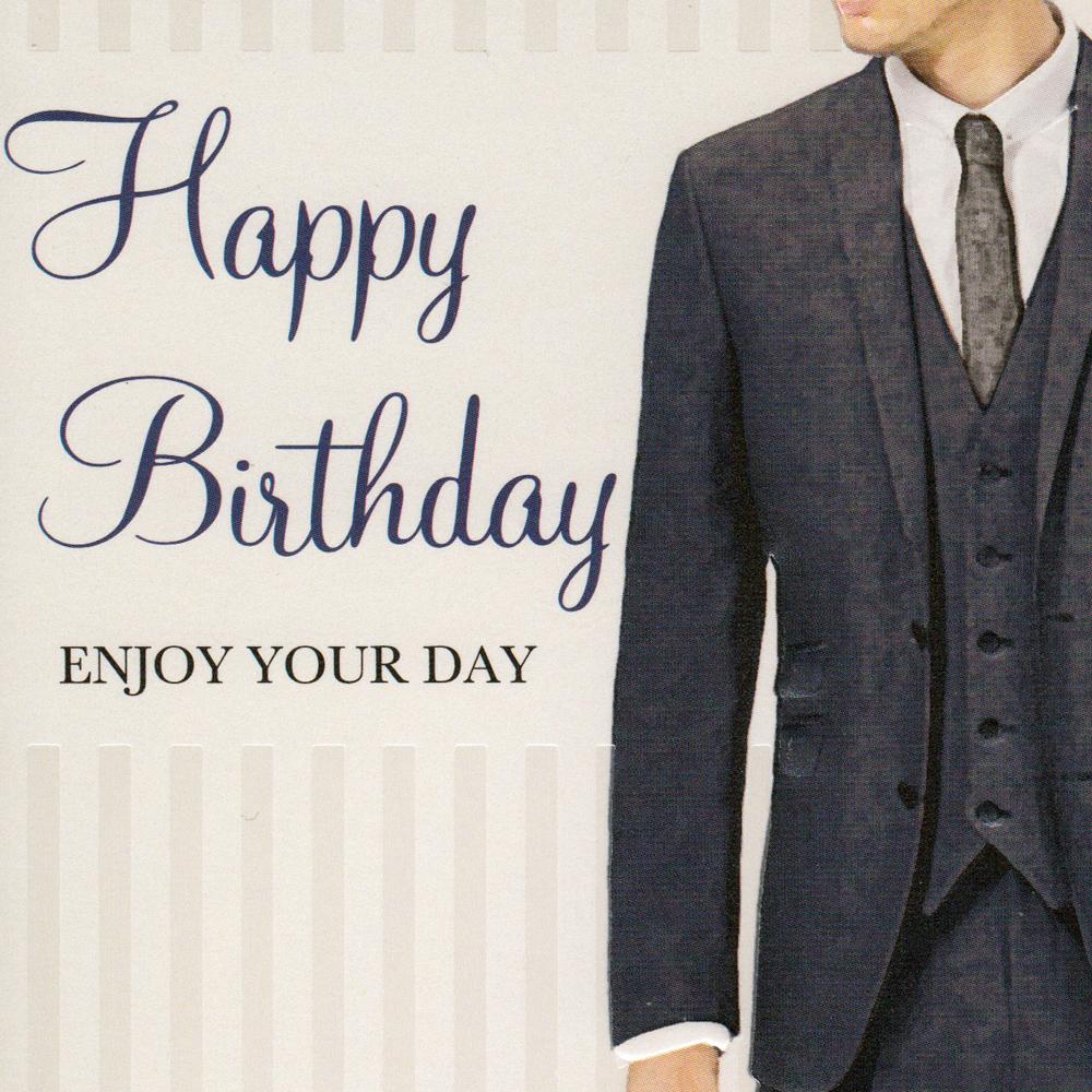 Stylish Mens Birthday Card BC06