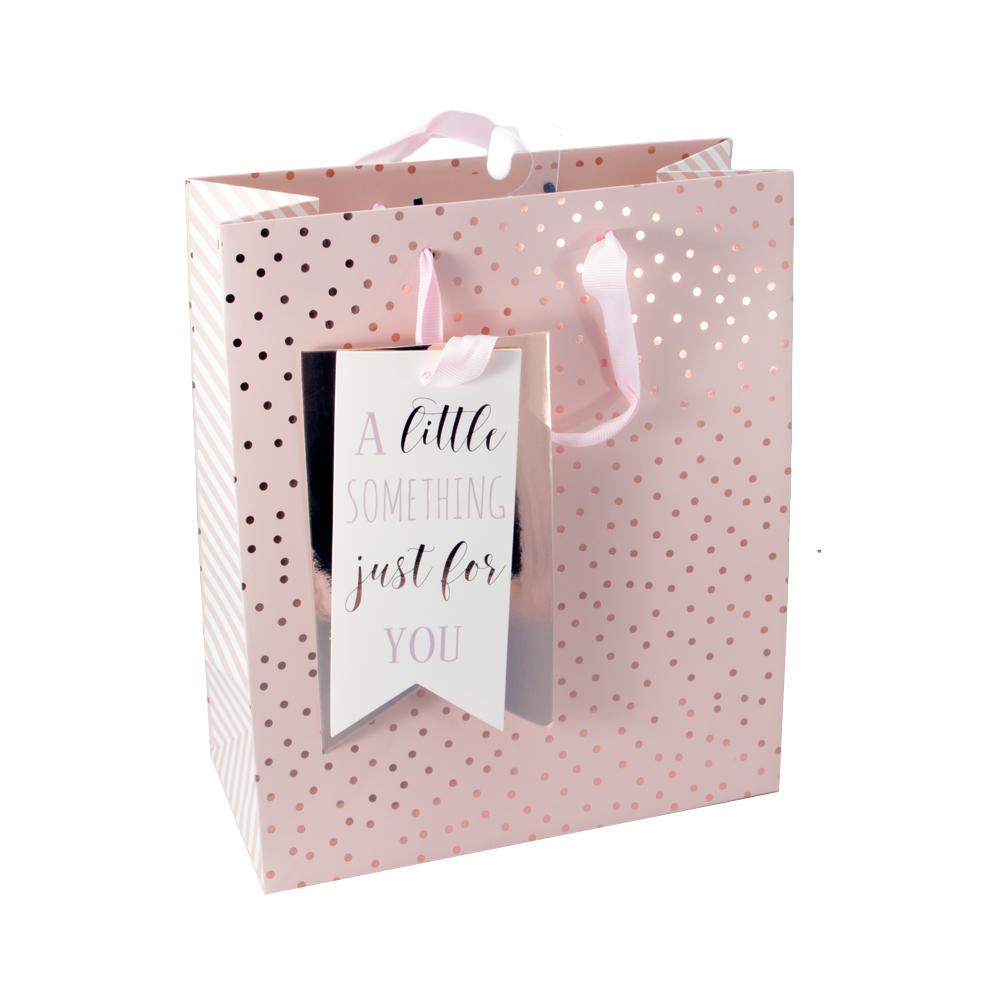 Pink & Gold Gift Bag & Tag