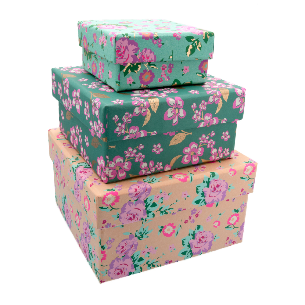 Nested Floral Gift Boxes-GBS158  sc 1 st  Stylish Gifts & Nested Floral Gift Boxes available online from Stylish Gifts