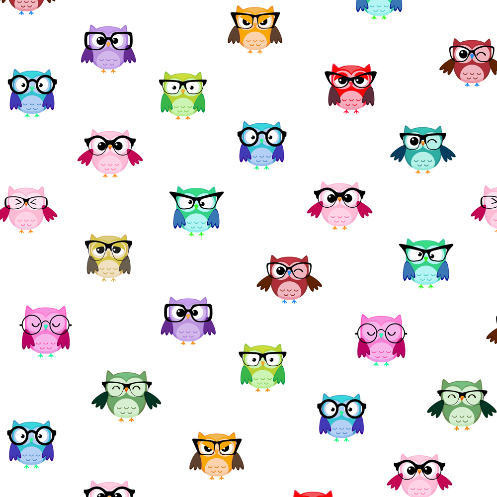 Wholesale Unique Owl Gift Wrap 12 Sheets 4 Colours-High Quality A3 Paper